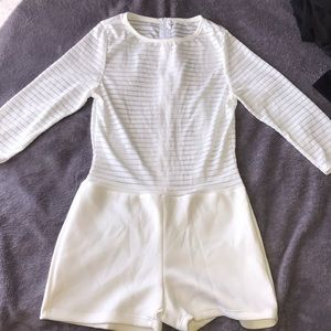Short sleeve white romper